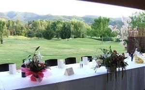Restaurant La Capitelle - Blick auf den Golfplatz
