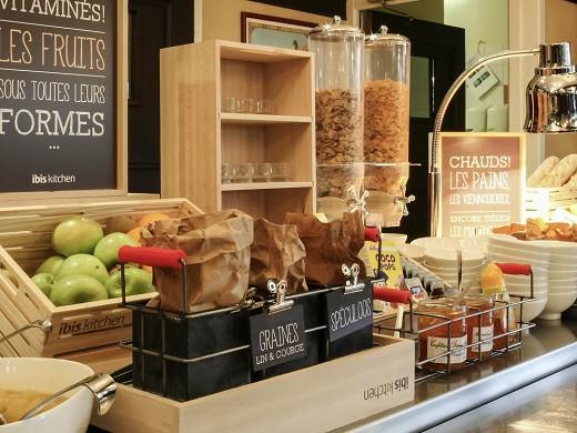 Ibis cherbourg ice cream parlor - breakfast