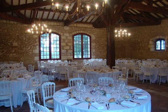 Château carbonnieux - sala de recepción