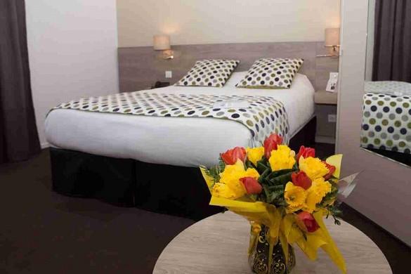 Sicher Hotel Limoges Sud Restaurant Apolonia - Schlafzimmer