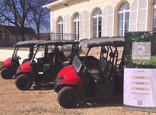 The field of cormellas - business event - buggy course in French vexin