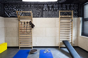 The gym at mama works