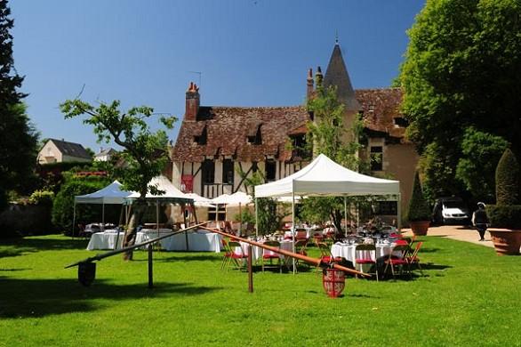 Castillo del Clos Luce Amboise fuera de 2