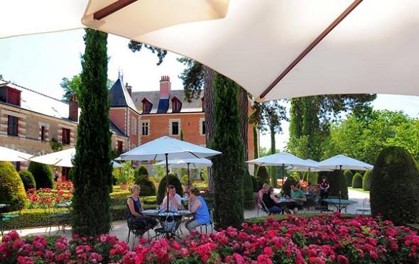 Chateau du Clos Luce Amboise Terraza 2