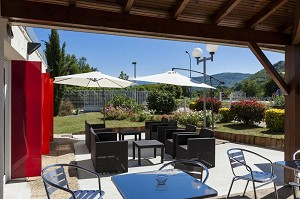 Brit Hotel Foix - The terrace