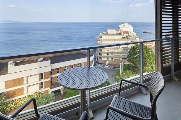 Le grand large de biarritz - vista de la habitación con terraza
