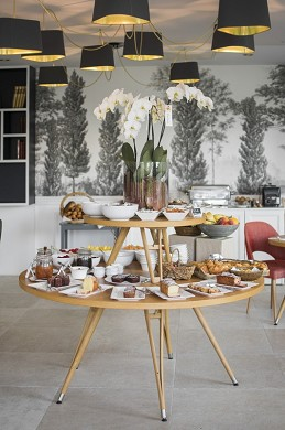 Domaine de la tortiniere - breakfast buffet