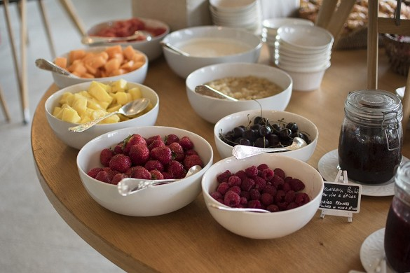 Domaine de la tortiniere - the breakfast buffet