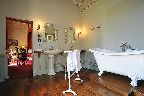 Chateau de la bourdaisiere - baño