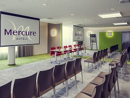 Meeting room in theater configuration