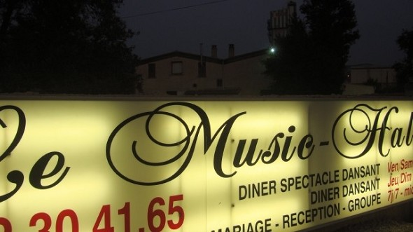The music hall - sign