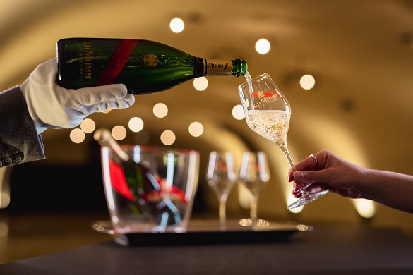 Champagne gh mumm - mumm - evento