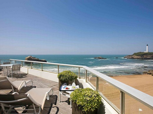 Sofitel Biarritz miramar thalassa sea and spa - sea view terrace