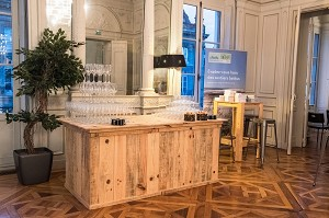 The Medoc lounge privatized for an evening of 40 guests