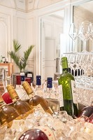 The caterer installed in the Médoc lounge