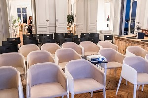 The Saint-Estèphe room privatized for a conference of 40 guests