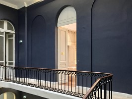 The newly renovated stairwell