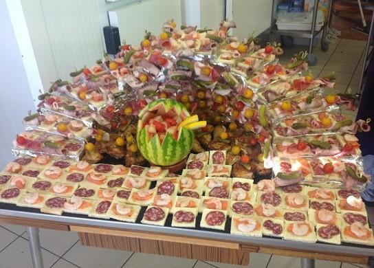 Auberge de la Sauzée - catering buffet
