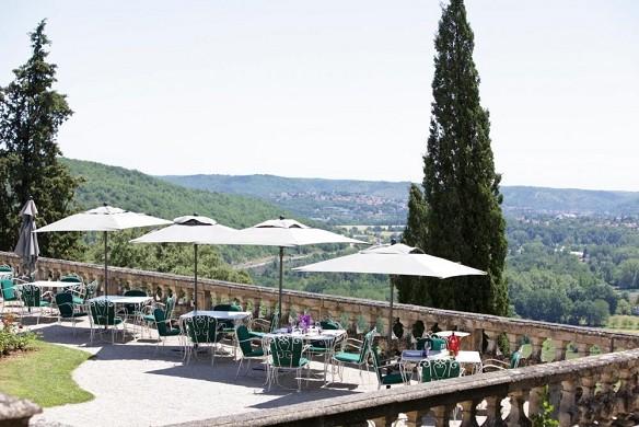 Castle of Mercuès - terrace