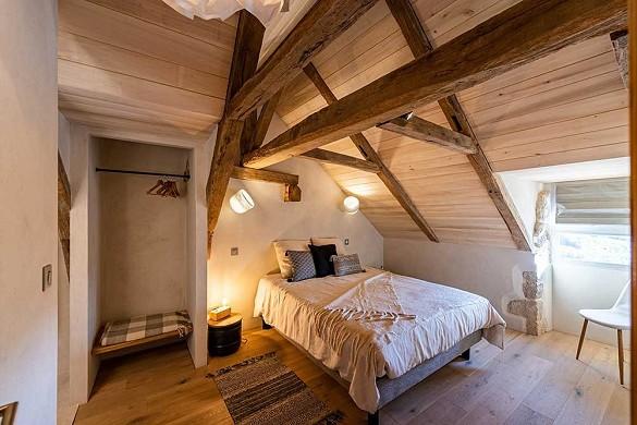 Les terrasses de majorac - room of the oeil de boeuf gîte