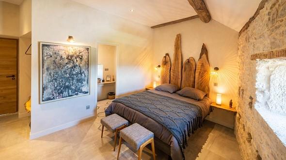 Les terraces de majorac - bedroom of the gîte le pigeonnier