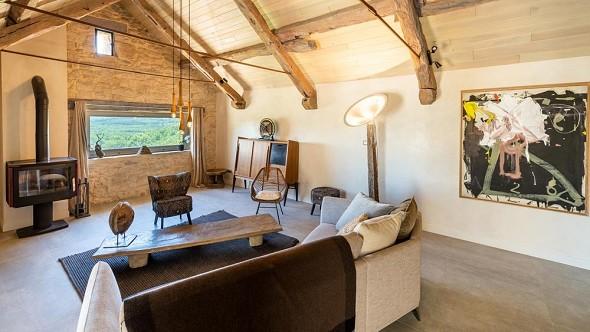 Les terrasses de majorac - lounge of the gîte le belvèdere