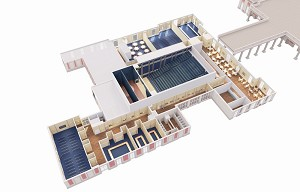 Plan of the molière theater. 3500m² of modularity.