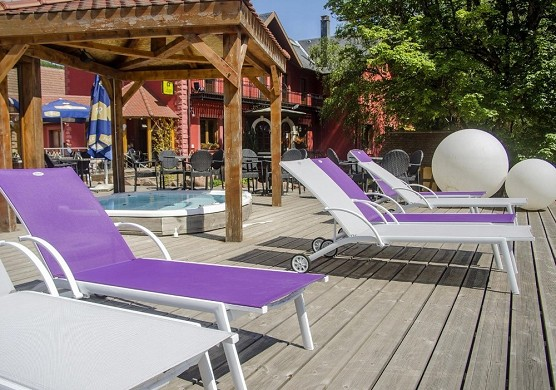 Complejo hotelero velleda et donon - terraza