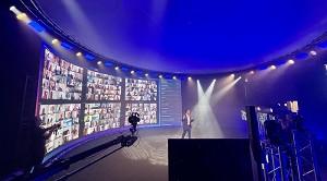 Hall b - configuración de estudio de televisión digital
