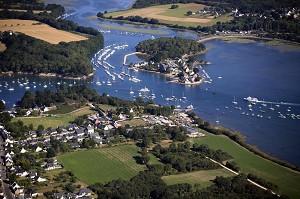 Vista aérea del Golfo de Morbihan