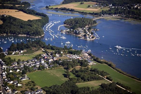 El coro - vista aérea del golfo de Morbihan