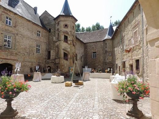 Château saint sixte - cortile