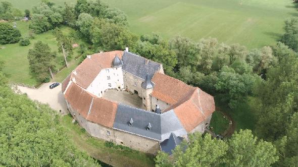 Château saint sixte - vista dal cielo