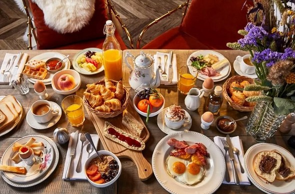 Valle alpina - colazione