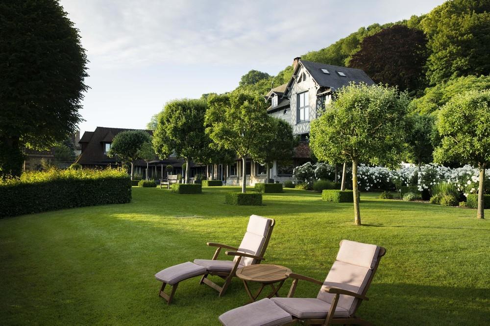Die Saint Siméon Farm - Gärten mit Blick auf die Mündung