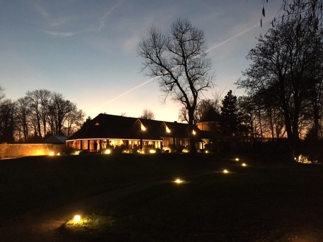 Domaine du Colombier - lighting of the barn area