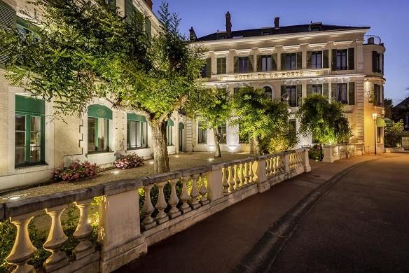 Hotel de la poste - najeti - evening