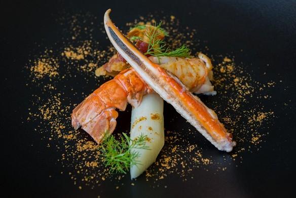 Manoir de kerhuel - ejemplo de entrada al restaurante