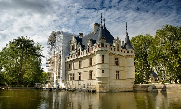 Château d'azay le rideau - facade
