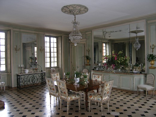 Chateau de Villiers Bacle la sala da pranzo