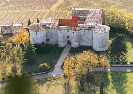 Chateau de mauriac - from the sky