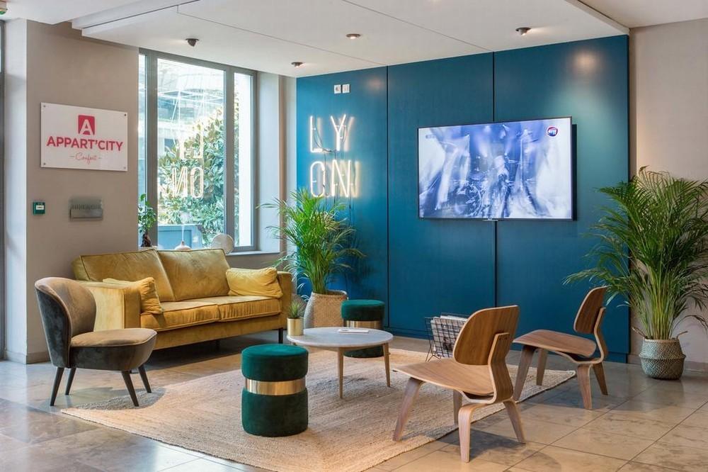 Appart'city comfort lyon part god - sala de estar