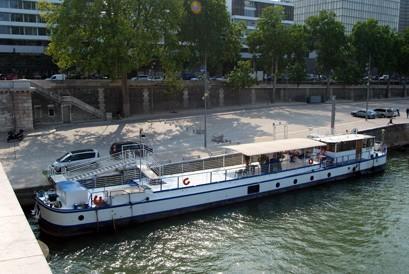 Die Barge aabysse - Draufsicht