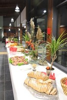 Buffet in der Halle