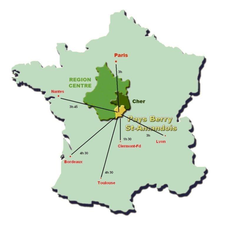 The blacklac - mapa del país berry saint amandois