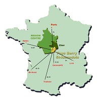 Map the country berry saint amandois
