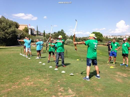 Quality golf hotel montpellier-juvignac - incentive activity archery on golf