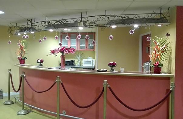 Fiori e posto seminario di decorazione floreale