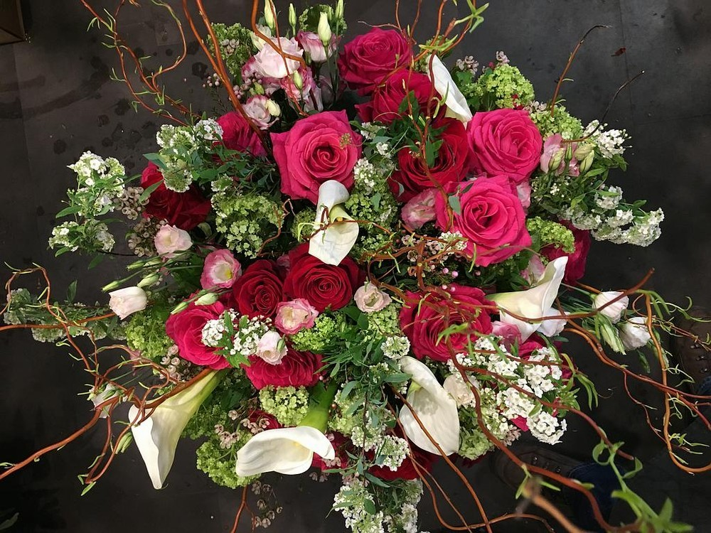 Hierba y rosa - ramo