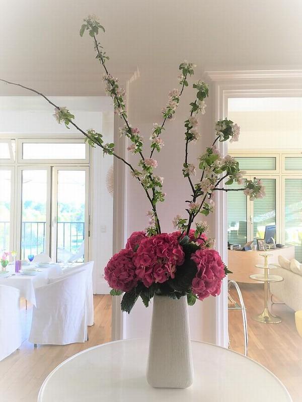 Hierba y rosa - decoración floral